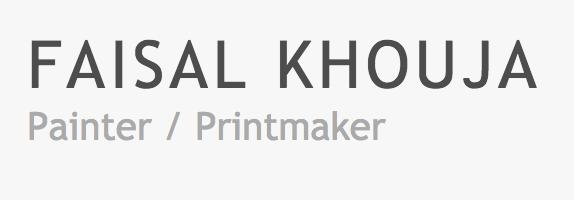 Faisal Khouja Painter Printmaker