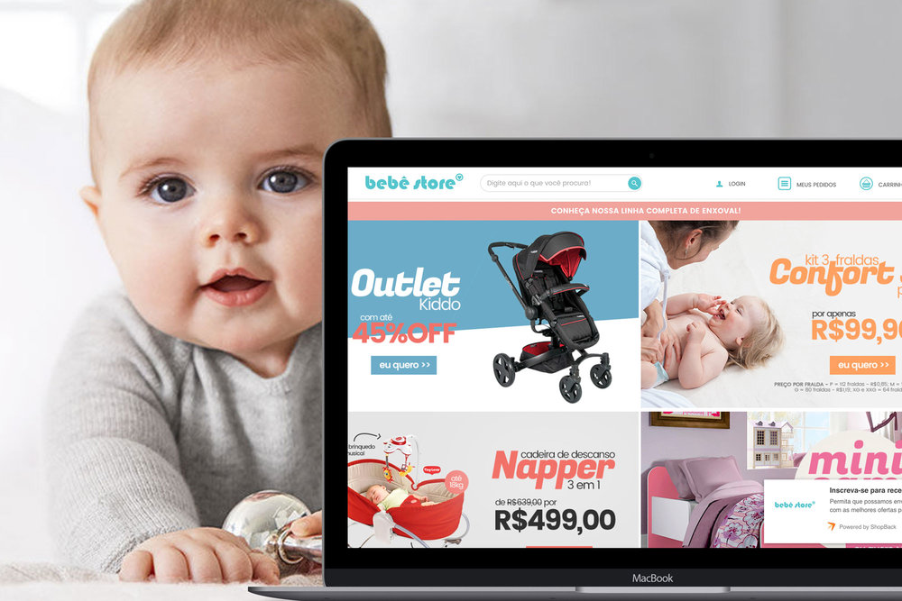 BBStore is the biggest exclusive baby, child and moms products e-commerce. Whith more than 100 hundred itens in our own distribution center, to have a fast answer when any mom of our coutry buy something.       Visit the site