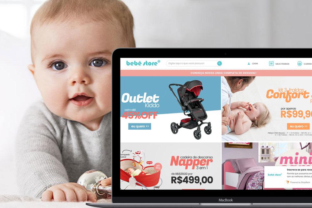 BBStore é o maior e-commerce de produtos exclusivos para bebês, crianças e mamães. São mais de 100 mil itens armazenados em nosso próprio centro de distribuição, para atender com rapidez todas as mamães do nosso país.  Visite o site