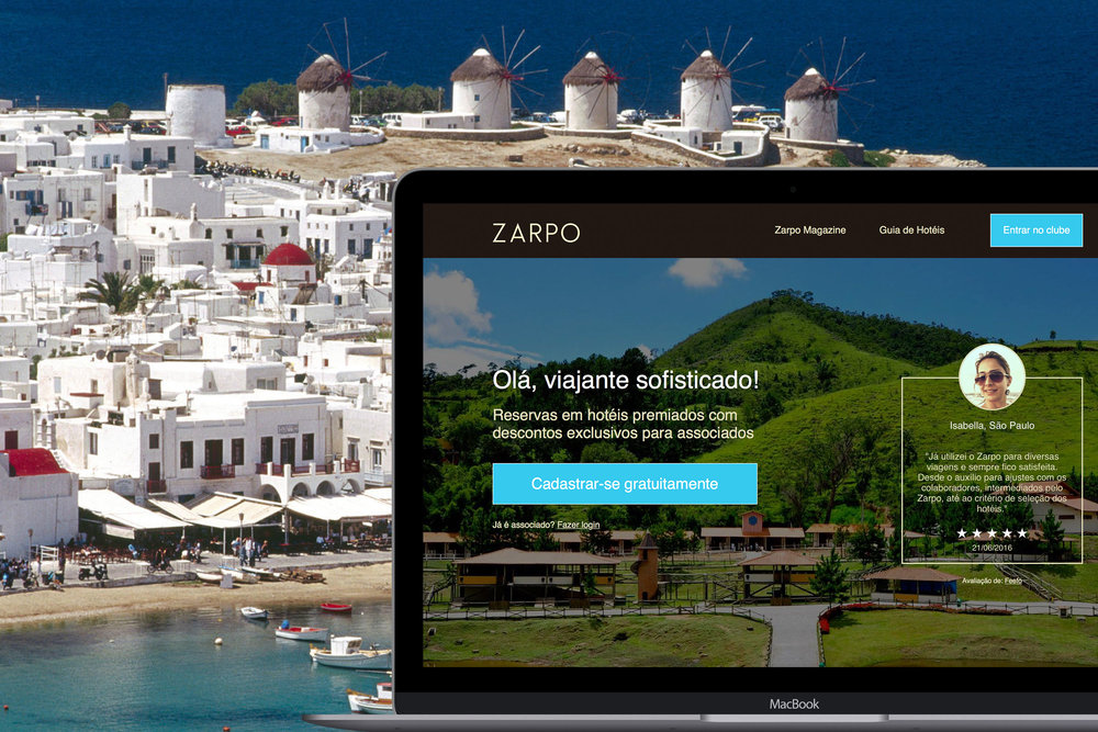 Zarpo is the online trip agency which is partner of the best hotels in Brazil. High level accomodations, exclusive taxes, flexible dates and a lot more.        Visit the site