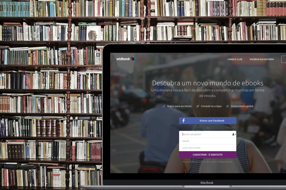 Widbook é uma comunidade colaborativa onde você pode ler, escrever e publicar livros e ebooks. Seja você um escritor independente ou um autor já estabelecido, nós o convidamos a se conectar com pessoas do mundo todo e descobrir uma nova maneira de escrever e encontrar um novo mundo de livroe e ebooks para ler. Atualmente temos mais de 55 mil títulos no acervo sendo 20 mil títulos acabados. Visitar o site