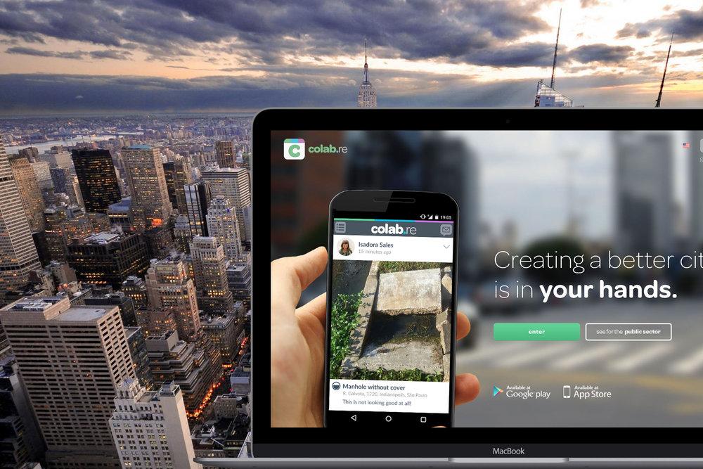 Uma rede social para a cidadania que faz a ponte entre o cidadão e o poder público. Nosso objetivo é construir cidades melhores com a colaboração de todos! Já temos mais de 110 cidades e entidades utilizando o software de gestão Colab e mais de 90 mil cidadãos contribuindo com melhores praticas de gestão. Visite o site