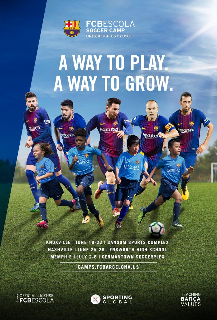 FC Barcelona - FC Barcelona is sending several coaches to Tennessee throughout the summer for multiple camps. Register soon for early bird pricing. Click on the image for more information!