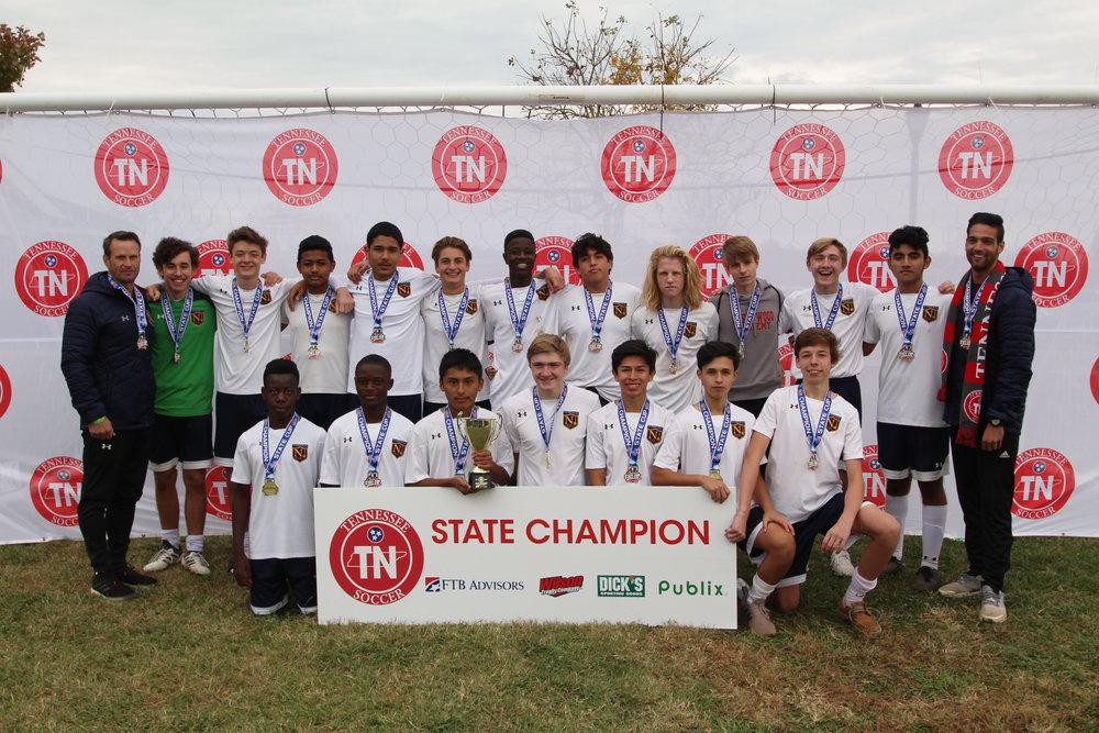 D2 U16 Boys Champion - NUSA 03 Maroon