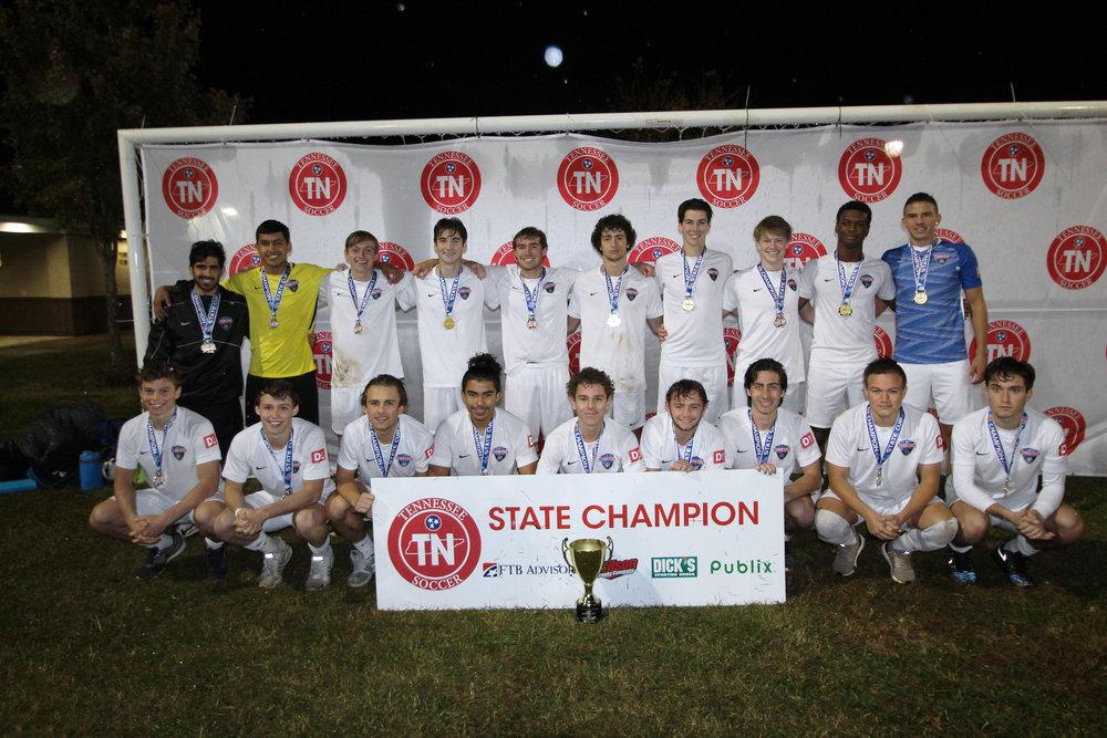 D1 U19 Boys Champion - Tennessee Soccer Club 2000 Boys Showcase Blue