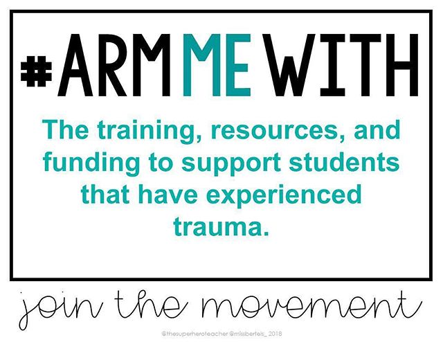"#armmewith  Let's understand the root cause of violent behaviors in schools instead of putting a band-aid on it.  Nationally, an estimated 1 in 4 children has witnessed a violent act and 1 in 10 has seen one family member assault another.  A child with four or more ""adverse childhood experiences"" is 32 times more likely to be labeled with a learning or behavior problem than a child with no adverse childhood experiences.  Stand with us to arm our West Michigan teachers with resources to become trauma-informed."