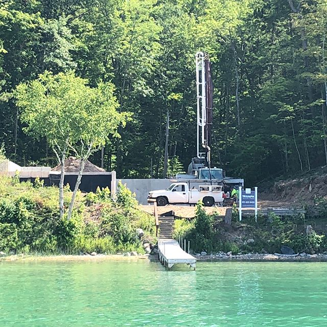 Our latest project is starting to get busy. Pouring the floors today and framing tomorrow! #walloonlake #puremichigan