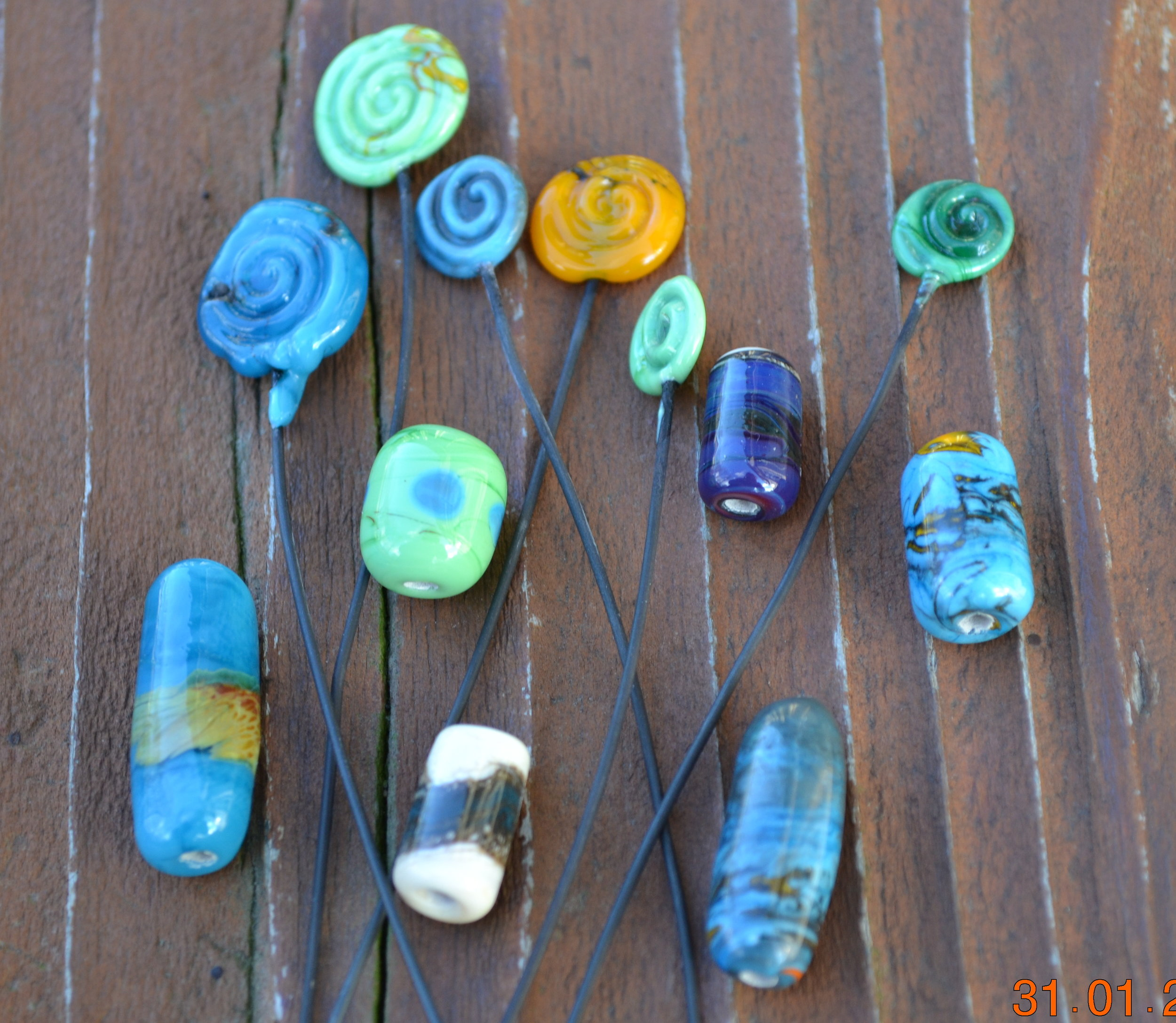 Glass Headpins and Beads