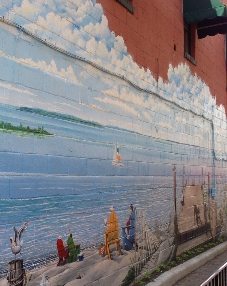"Keith Naquin, ""Chesapeake Vistas"" mural in Herndon, Virginia"