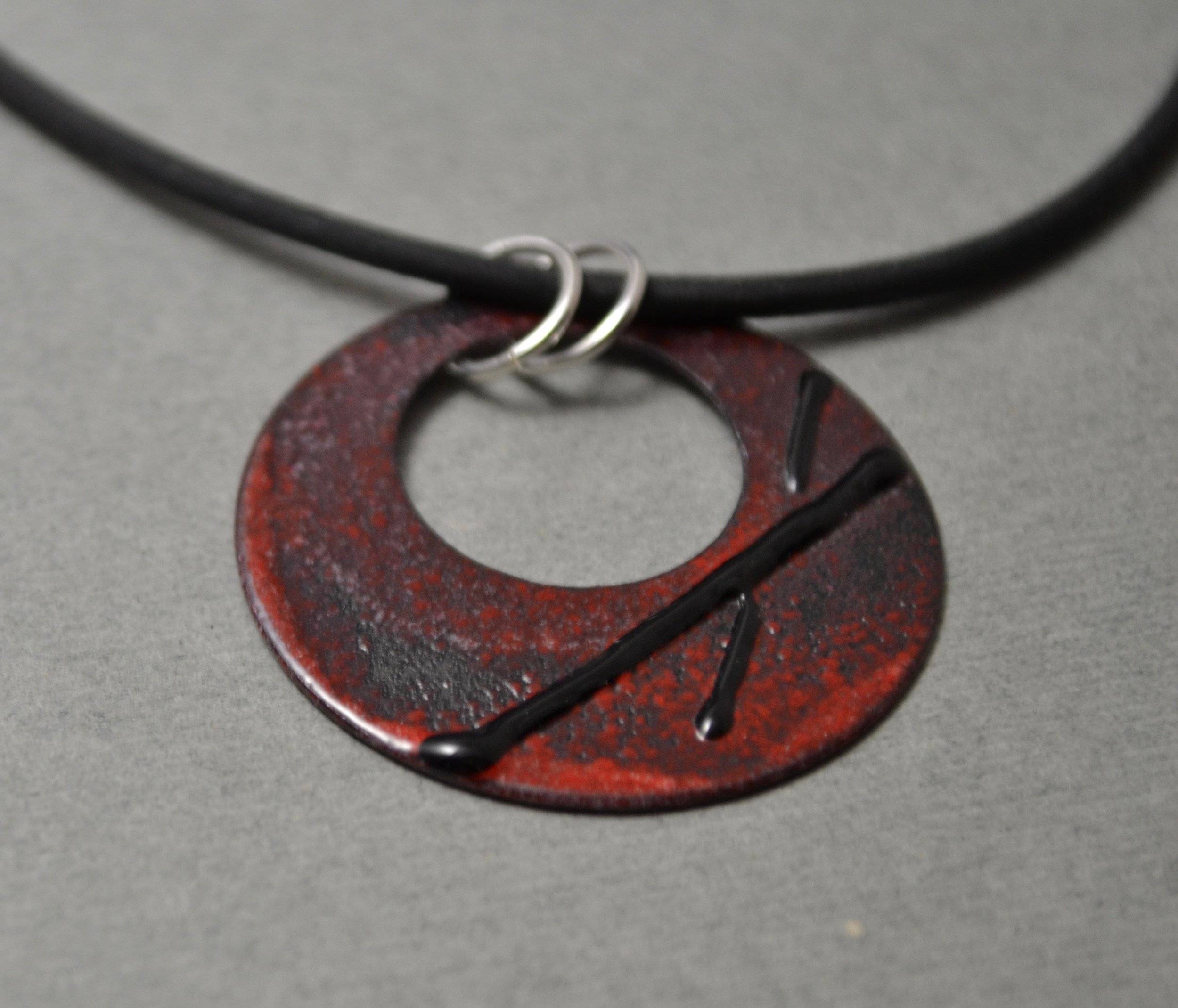 One of a kind enamel pendant