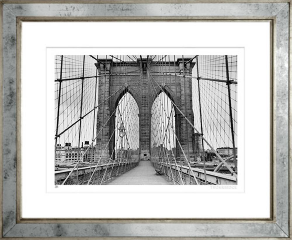 Walkway on Brooklyn Bridge
