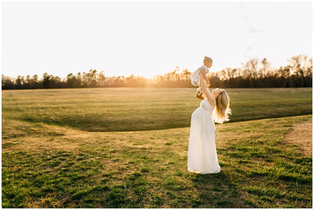 raleigh sunset maternity session