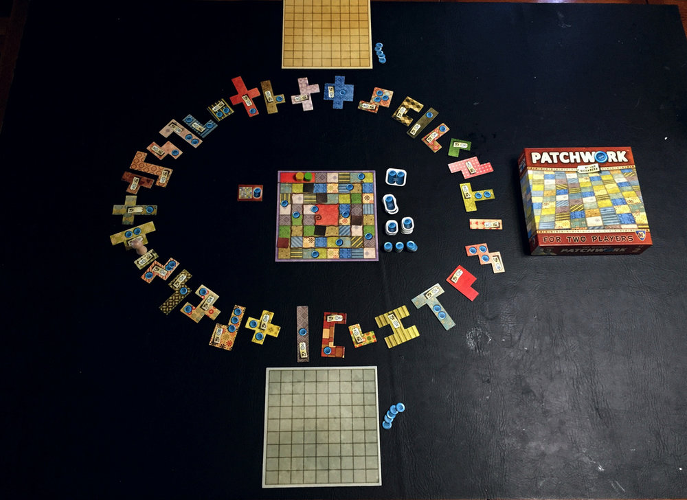 Patchwork all set up and ready to play