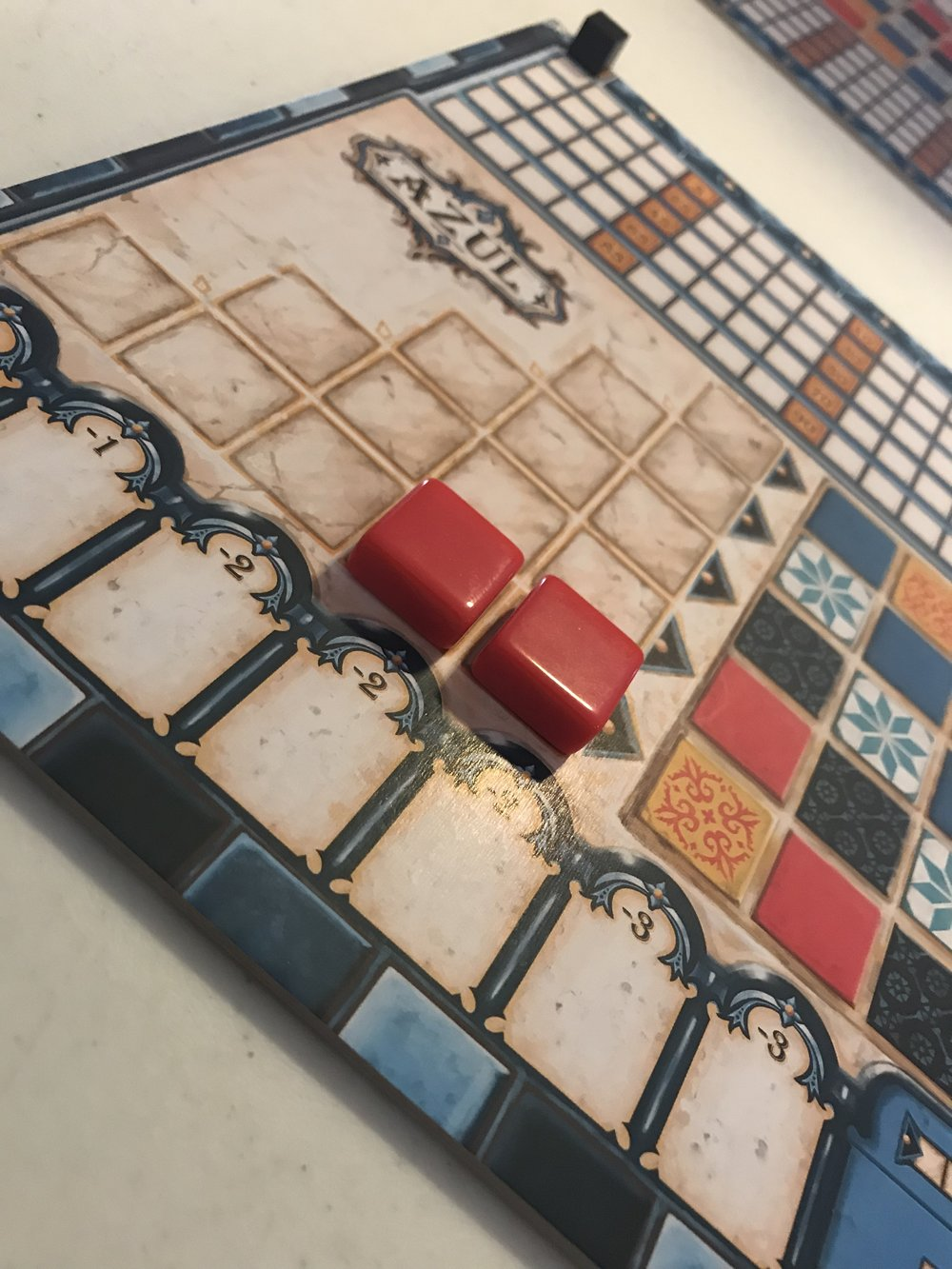 Two tiles in a Pattern Row