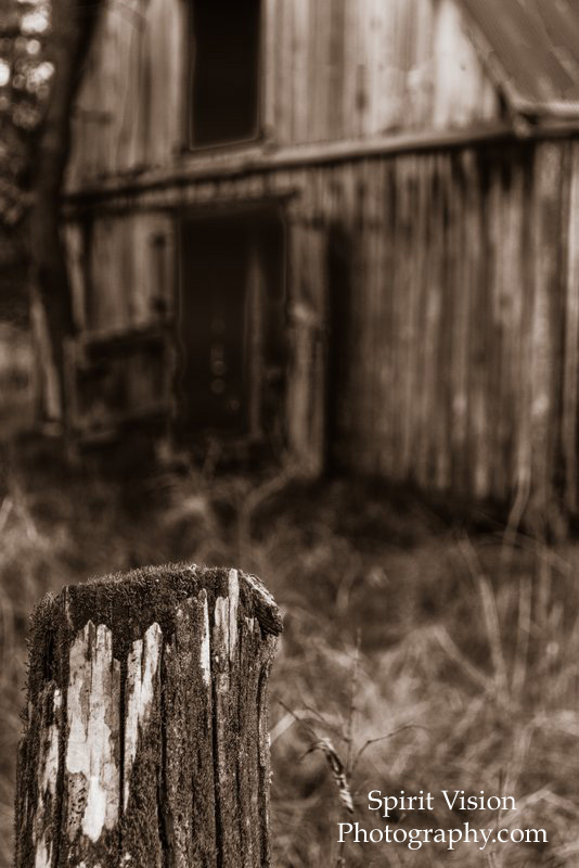 22-Fence post, barn in Sepia.jpg