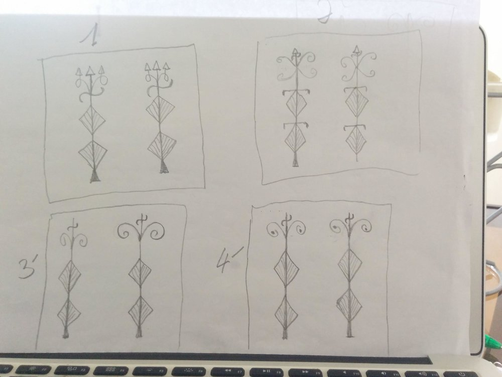Some preliminary drawings for the Sarah Kombucha Logo