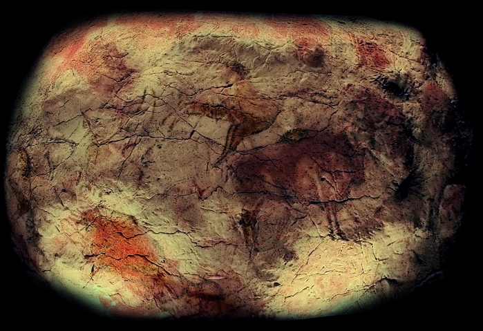 Cave drawings depicting animals, the environment, and ourselves, clearly storytelling props, are 35,000-40,000 years old