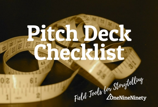 Use the 'Pitch Deck Checklist' to create a process and align on outcomes