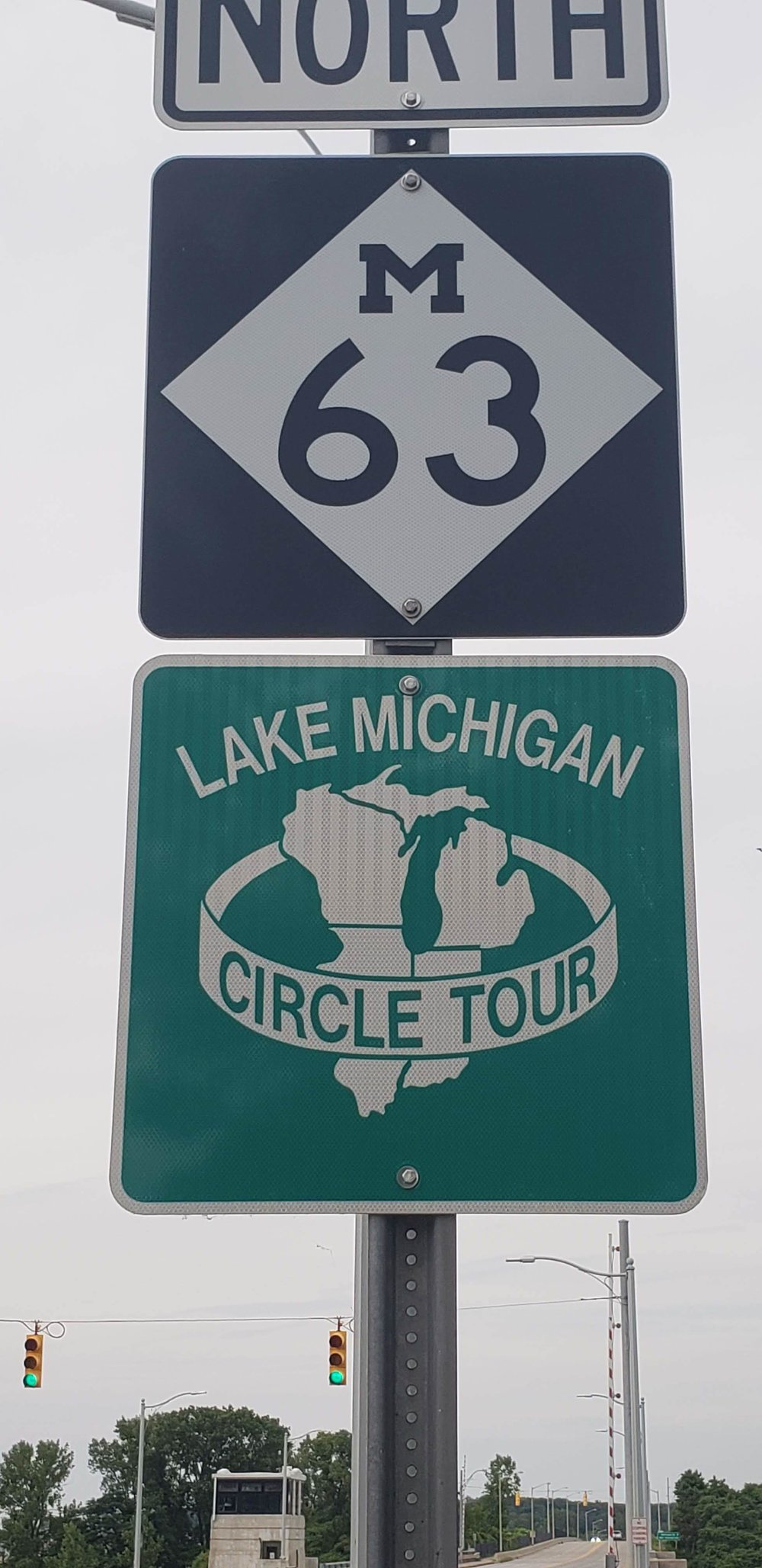 You can ride all around Lake Michigan.