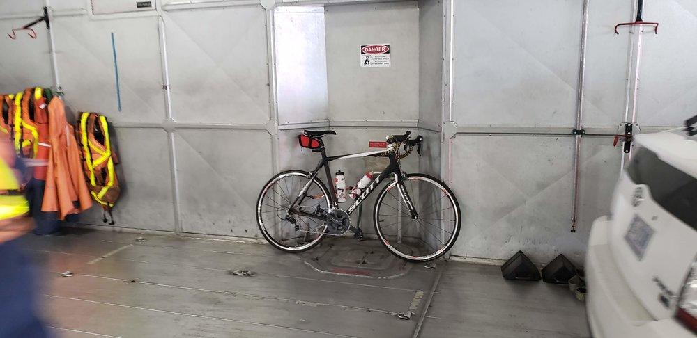 I was first on the ferry... cuz I had a bike