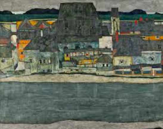 Houses on the River (The Old Town) , by Egon Schiele