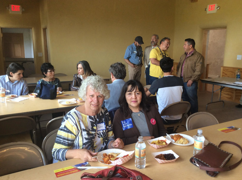 Attendee's, Santa Fe County Democratic Party Chairwoman Susan Popovich and San Miguel County Federation of Democratic Women President Noyola Padilla-Archibeque.