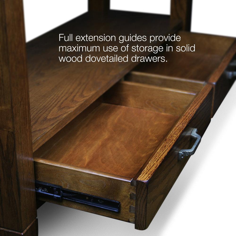 Product leick home slatestone rustic oak sofa table 10933 watchthetrailerfo