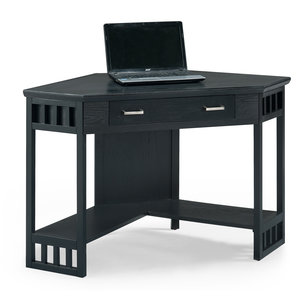 black corner computerwriting desk 83430 - Black Writing Desk