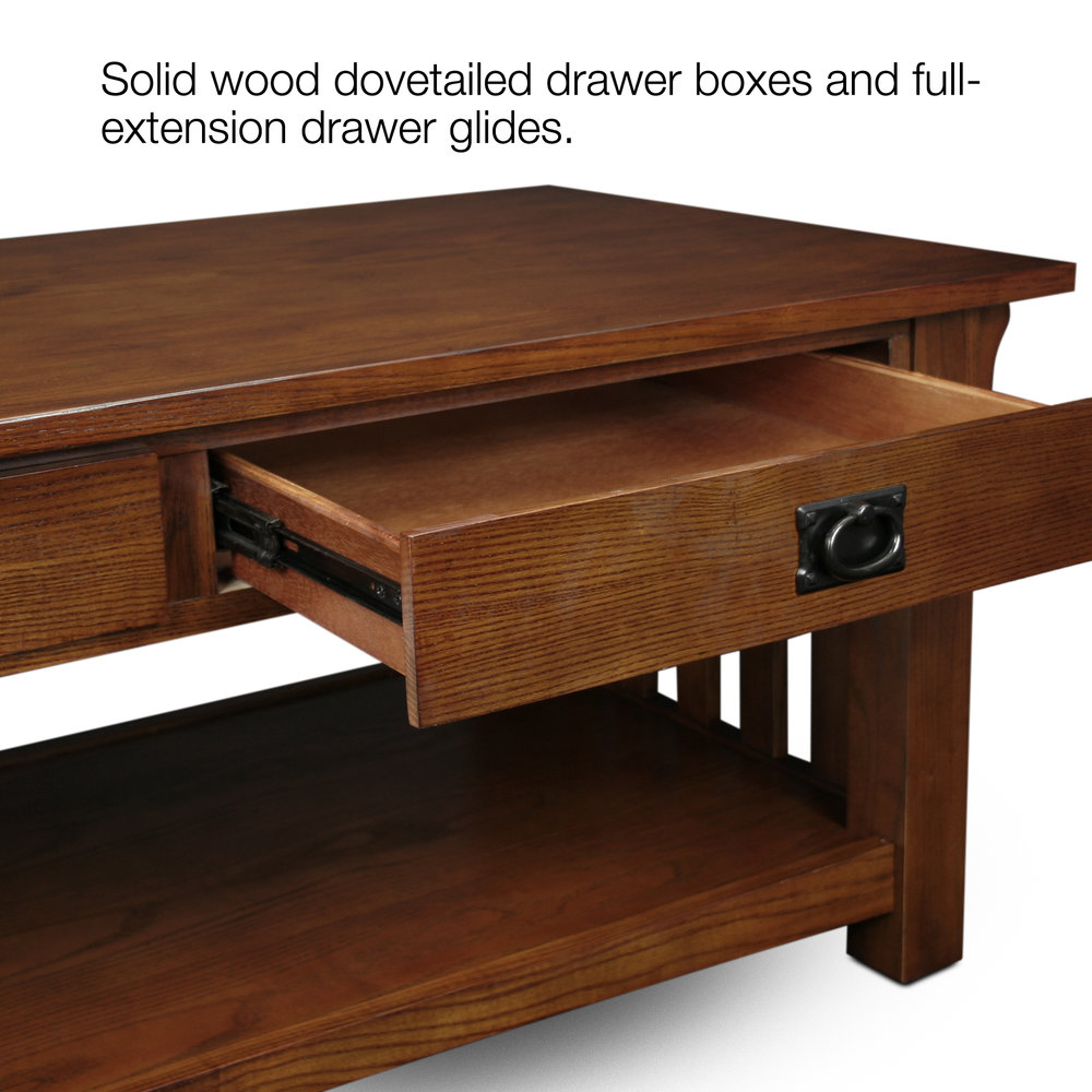 Great Mission Two Drawer Coffee Table #8204