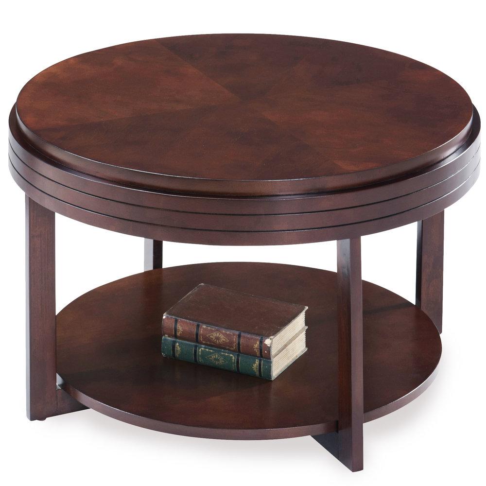 Attrayant Chocolate Cherry Round Condo/Apartment Coffee Table #10108 CH