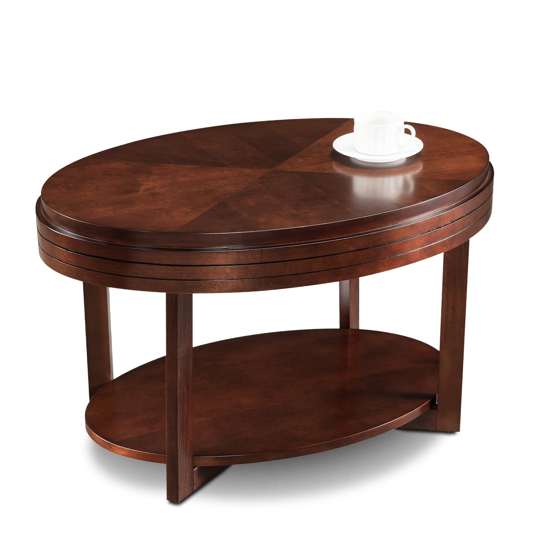 Chocolate Cherry Oval Condo/Apartment Coffee Table #10109 CH ...