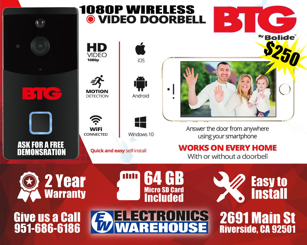 BTG 1080P Wireless Video Doorbell