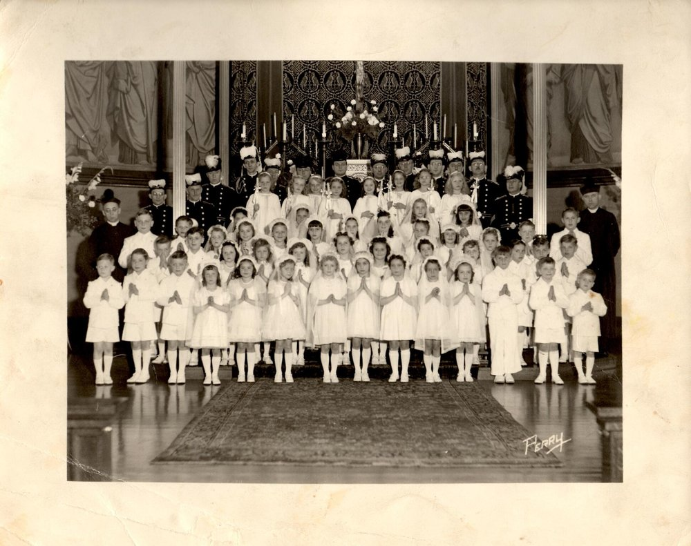 1946 1st Communion Class at St Francis Xavier Church which is now the Buffalo Religious Arts Center (1).jpg