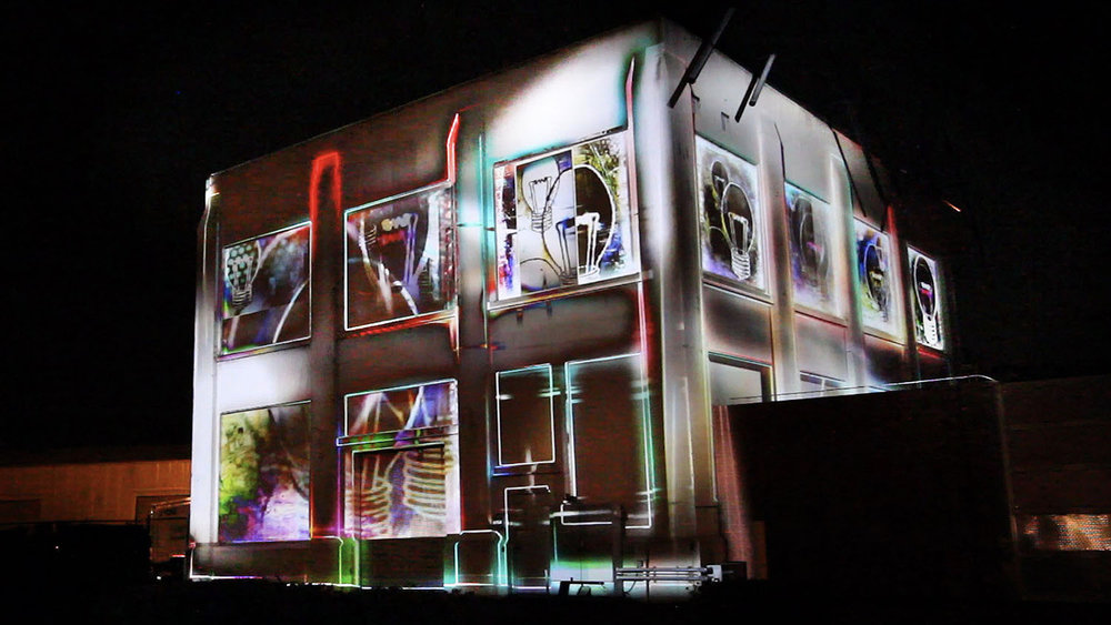 Substation Transformation  at Portland Winter Light Festival