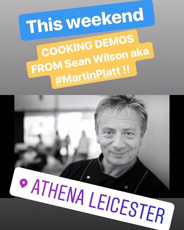 This weekend in #Leicester ... cooking demos from #SeanWilson aka #martinplatt and his amazing cheese!