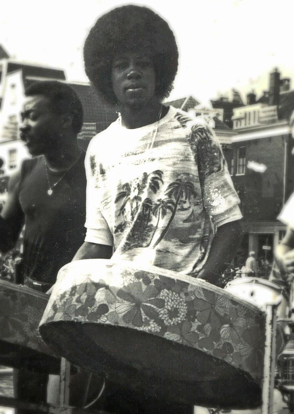 Lesley Joseph, (steelpan) early 80's
