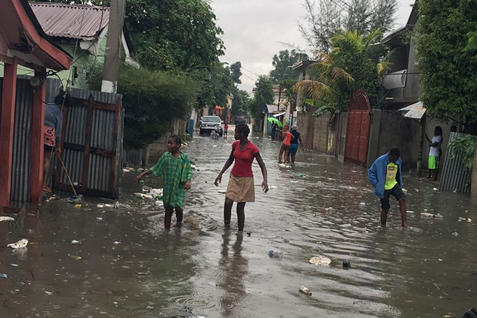 Damage caused by Hurricane Irma in Hinche, central Haiti. | Credit: UN