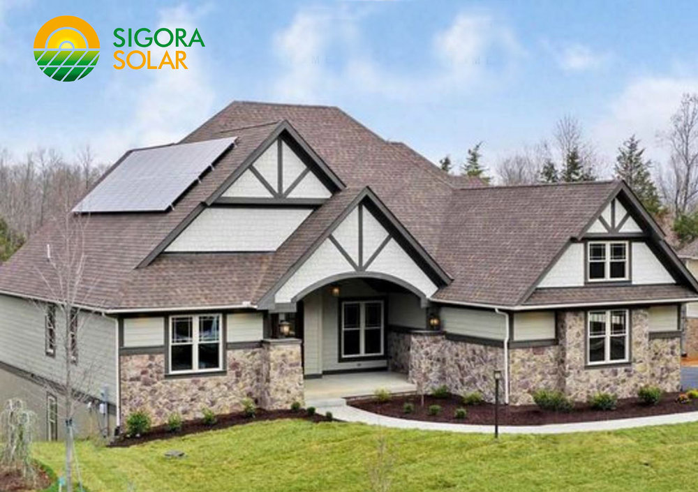Platinum Certified home in Crozet, Virginia; solar installed by Sigora Solar.
