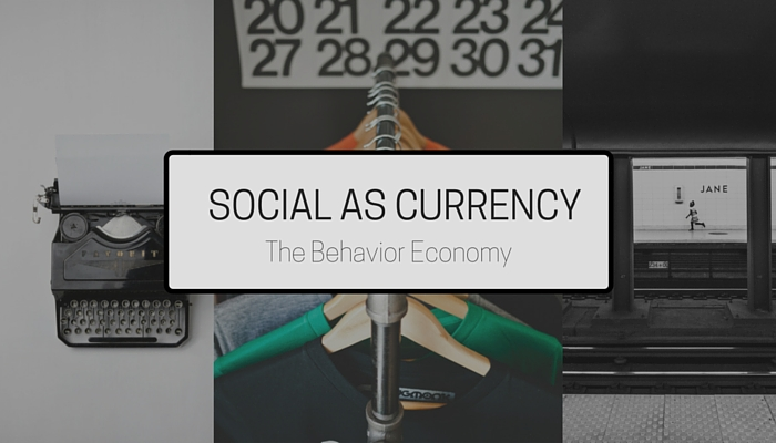 SOCIAL AS CURRENCY