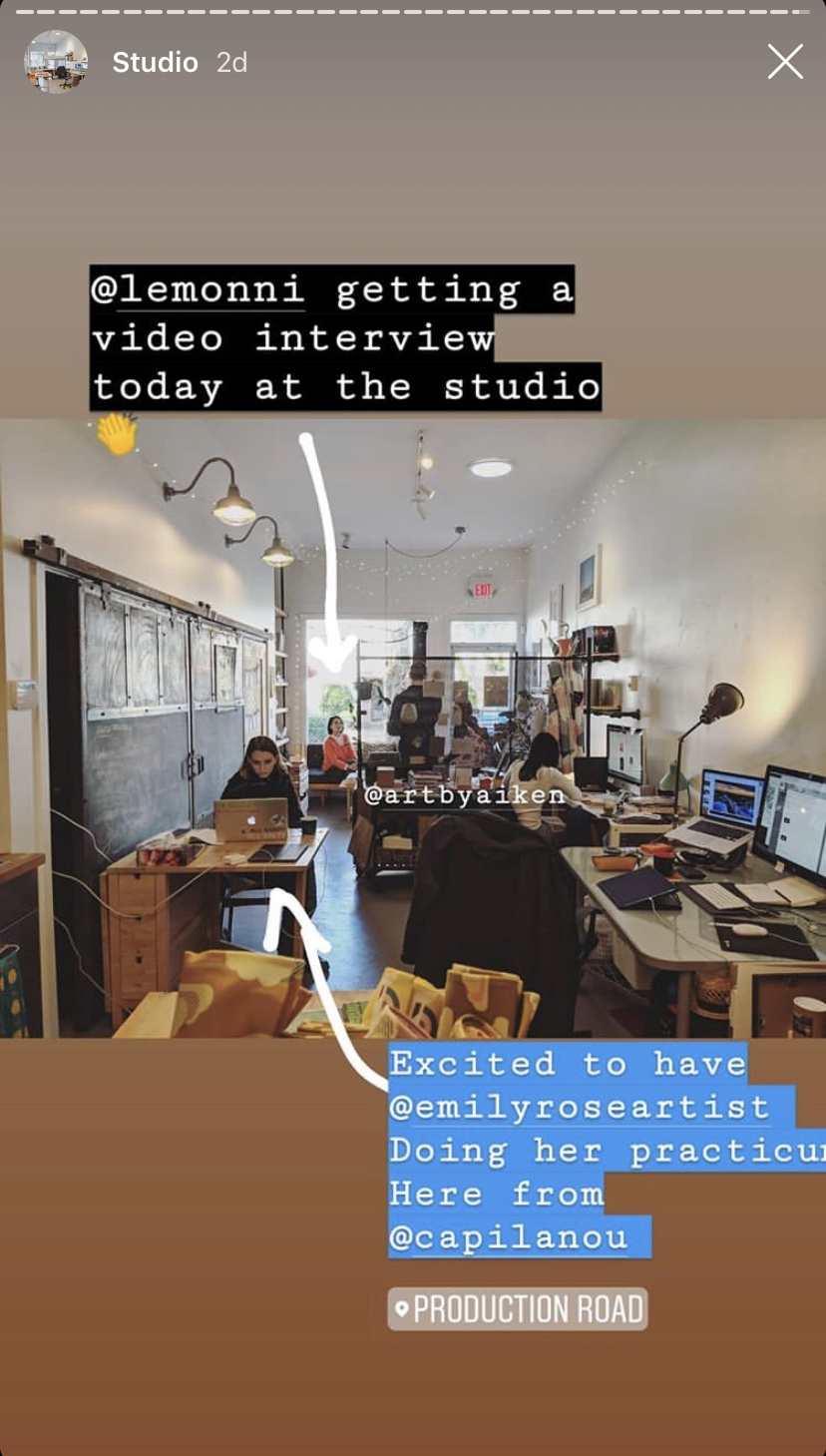Carson posted on his instagram snap chat story a little behind the scenes shot of the studio in full swing!