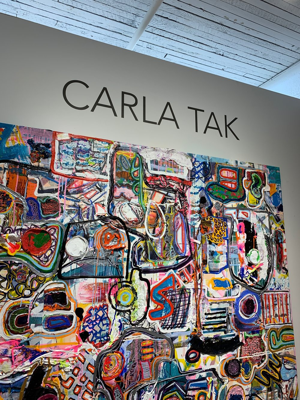 Carla Tak uses layering techniques, paint buckets, etc!