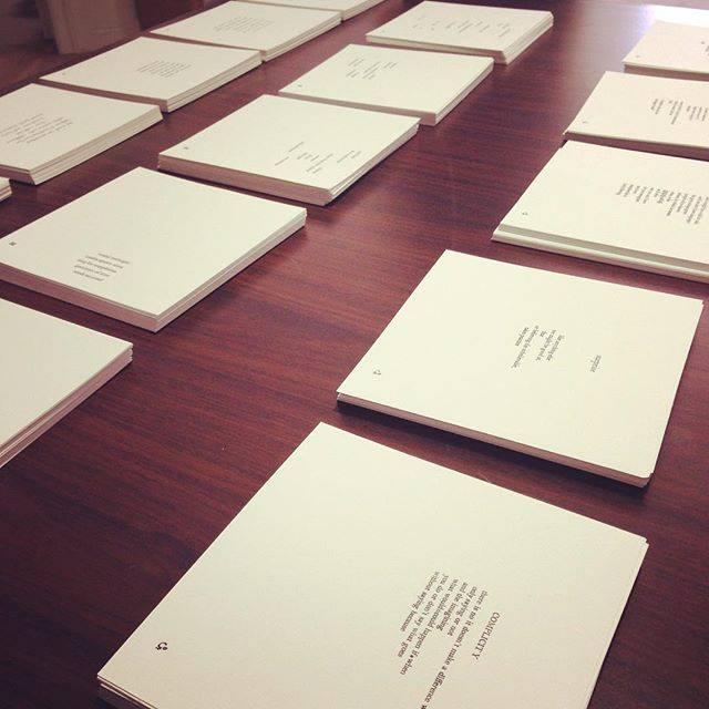 letterpress printed poems