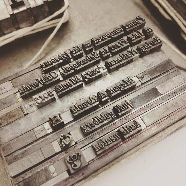 letterpress colophon