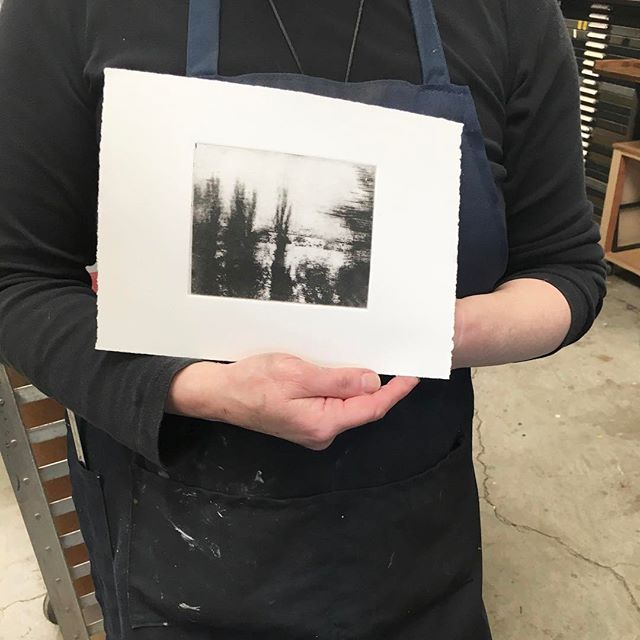 jami taback solar plate printing workshop at north bay letterpress arts