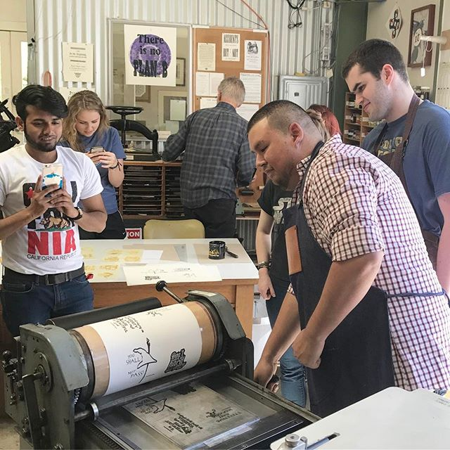 santa rosa junior college students letterpress
