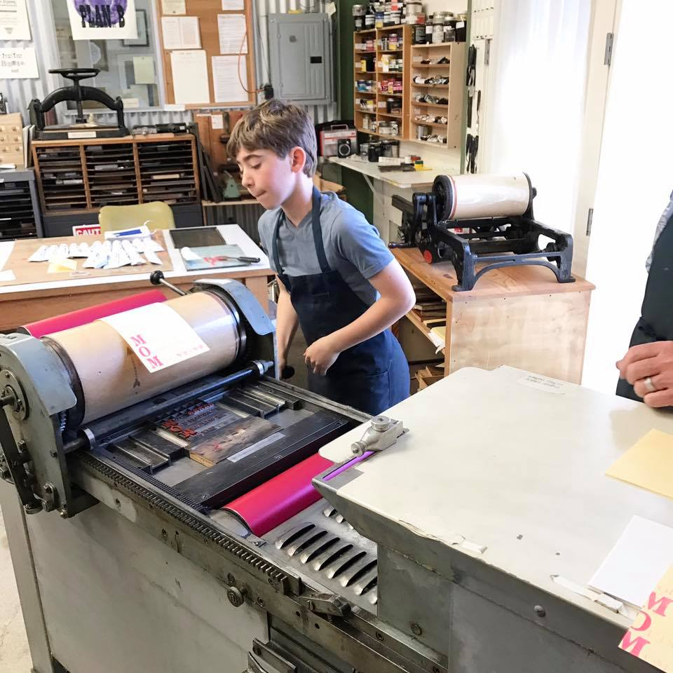 katie nealon workshop at north bay letterpress arts