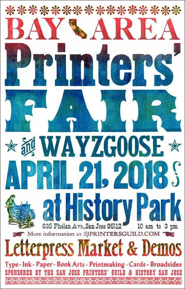 2018 sf bay area printers fair wayzgoose north bay 2018 sf bay area printers fair wayzgoose north bay letterpress arts reheart Images