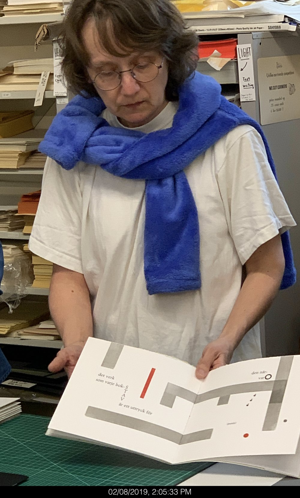 Lina Nordenstrom (Sweden) with artist book