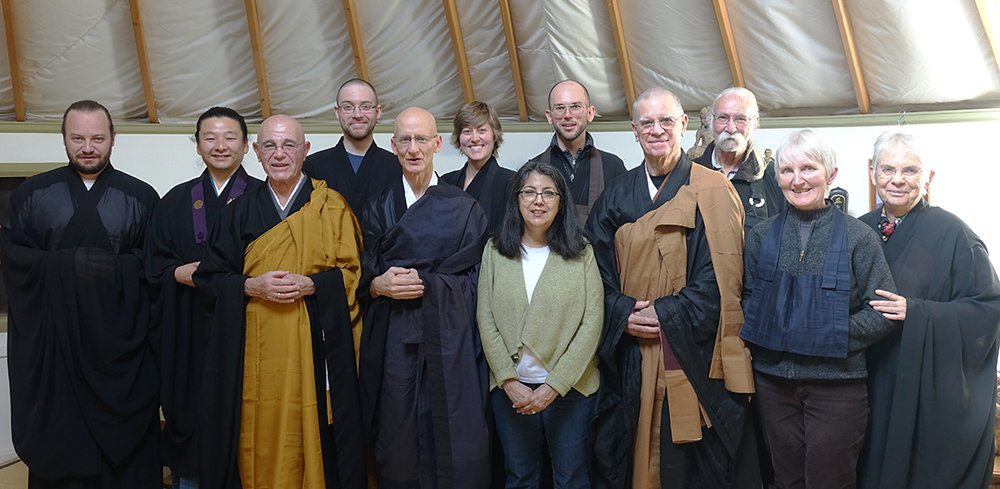 The sangha in attendance at Kikuu's ceremony.