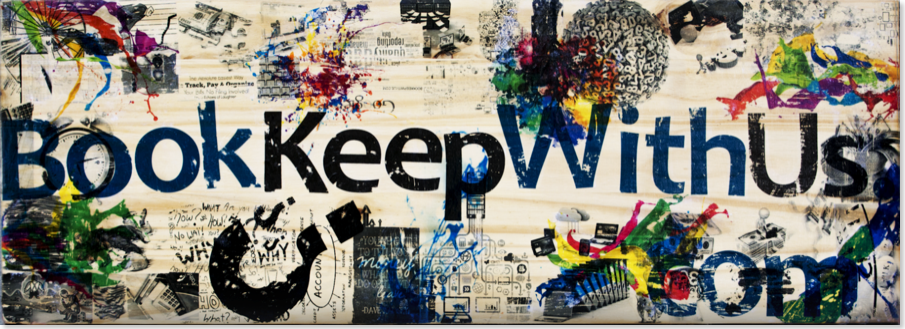 Our Bookkeepwithus.com Emblem, we do bookkeeping because we love it!  Made In tampa, fl
